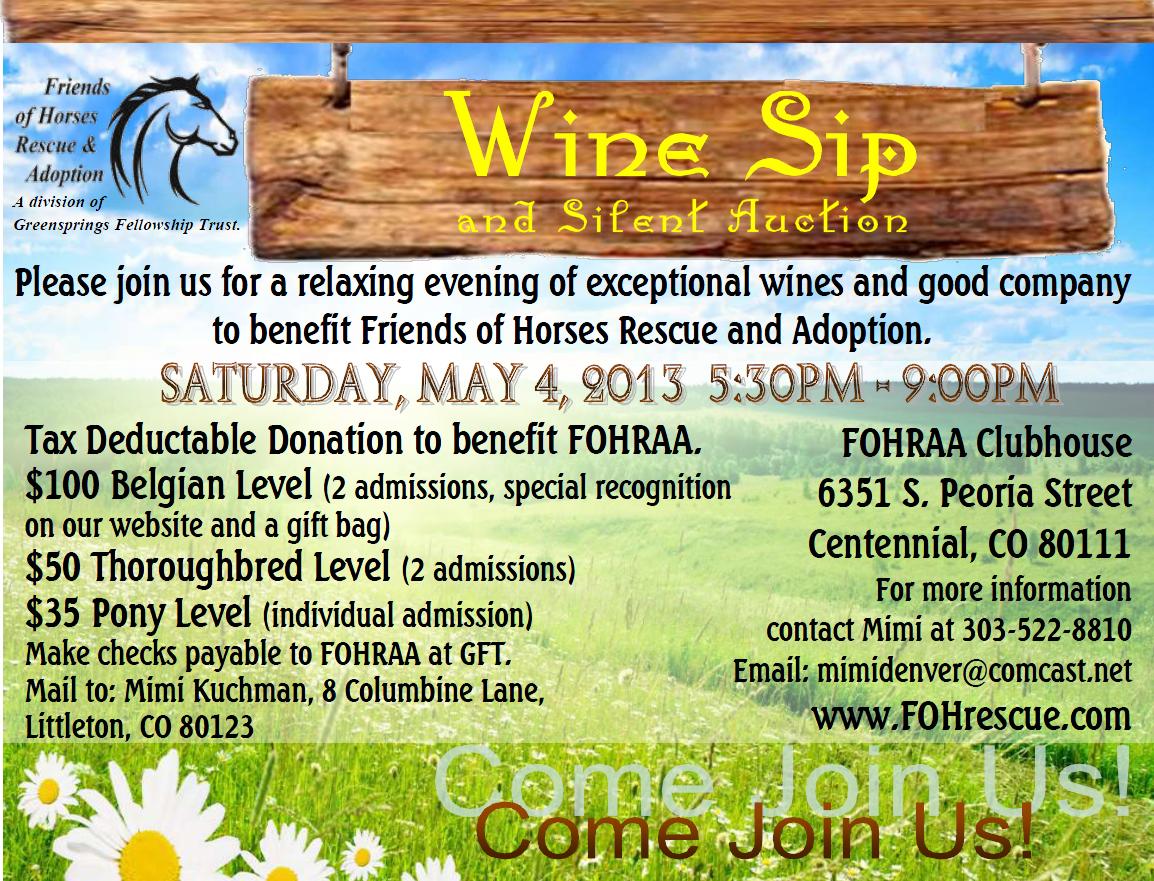 Wine Sip 2013 FOHrescue